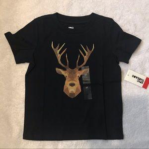 Deer T Shirt-NWT-Navy-4T
